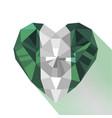 crystal flag of nigeria vector image vector image