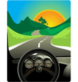 driving on long road vector image vector image