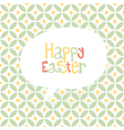 easter gift card vector image vector image