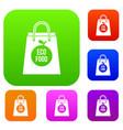 eco food bag set collection vector image vector image