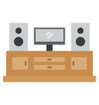 entertainment center icon with flat style eps10 vector image