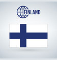 finland flag isolated on modern background with vector image vector image