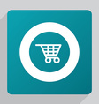 flat shopping cart icon vector image vector image