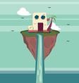 Floating Island Fantasy vector image vector image