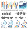 flowcharts and infographics with data visual info vector image vector image