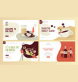 food and drink web page design templates vector image