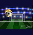 football arena with a soccer ball vector image vector image