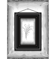 Frame on grunge texture background vector image vector image