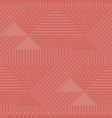 geometric seamless pattern shades of coral color vector image vector image