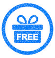 gift rounded grainy icon vector image vector image