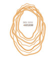 gold chains necklace abstract background jewelry vector image vector image