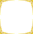 Gold frame floral vector image vector image