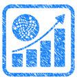 iota grow up chart framed stamp vector image vector image