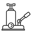 jack-screw icon outline style vector image vector image