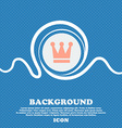 King Crown sign icon Blue and white abstract vector image vector image