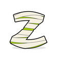 Letter Z Egyptian zombies Mummy ABC icon coiled vector image