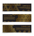 luxury horizontal banners template with golden vector image vector image