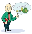 Man dream about money Concept cartoon vector image vector image