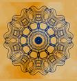 mandala mehndi inspired mandala of henna vector image