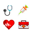 medical logo icon vector image vector image