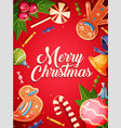 merry christmas greeting cards retro design vector image vector image