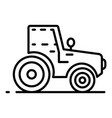 modern tractor icon outline style vector image vector image