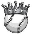 monochromatic king baseball concept a baseball vector image vector image