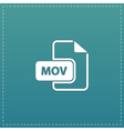 MOV video file extension icon vector image vector image