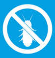 no termite sign icon white vector image vector image