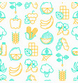 organic products seamless pattern vector image vector image