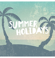 Phrase Summer Holidays on grunge background with vector image vector image