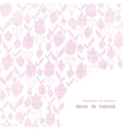 pink textile tulips texture frame corner pattern vector image vector image