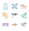 plane icons vector image vector image