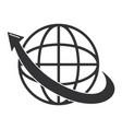 planet with arrow icon vector image vector image