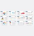 presentation mockup modern business slide vector image vector image