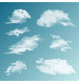 realistic clouds set isolated cloud on vector image vector image