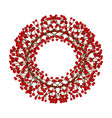 red berry christmas wreath isolated on white vector image vector image
