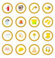 safety icon circle vector image vector image