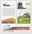 safety road construction service posters vector image vector image