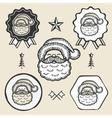 Santa claus symbol emblem label collection vector image vector image