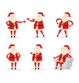 santa collection of icons vector image vector image