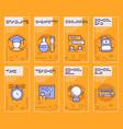 school color linear icons vector image vector image