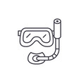 scuba diving mask line icon concept scuba diving vector image vector image