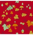 Seamless autumn background with leaves and vector image vector image