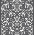 seamless pattern - lace design with flowers vector image vector image