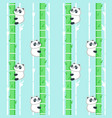 seamless pattern with cute little panda vector image vector image