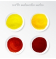 Set real watercolor circle vector image vector image
