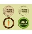 stylish farm fresh logo and badge templates vector image vector image