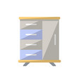 table with drawers isolated icon in flat style vector image vector image