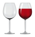 transparent wineglass with red wine vector image vector image